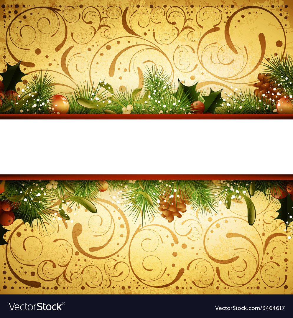 Christmas and New Year Fir Tree Frame