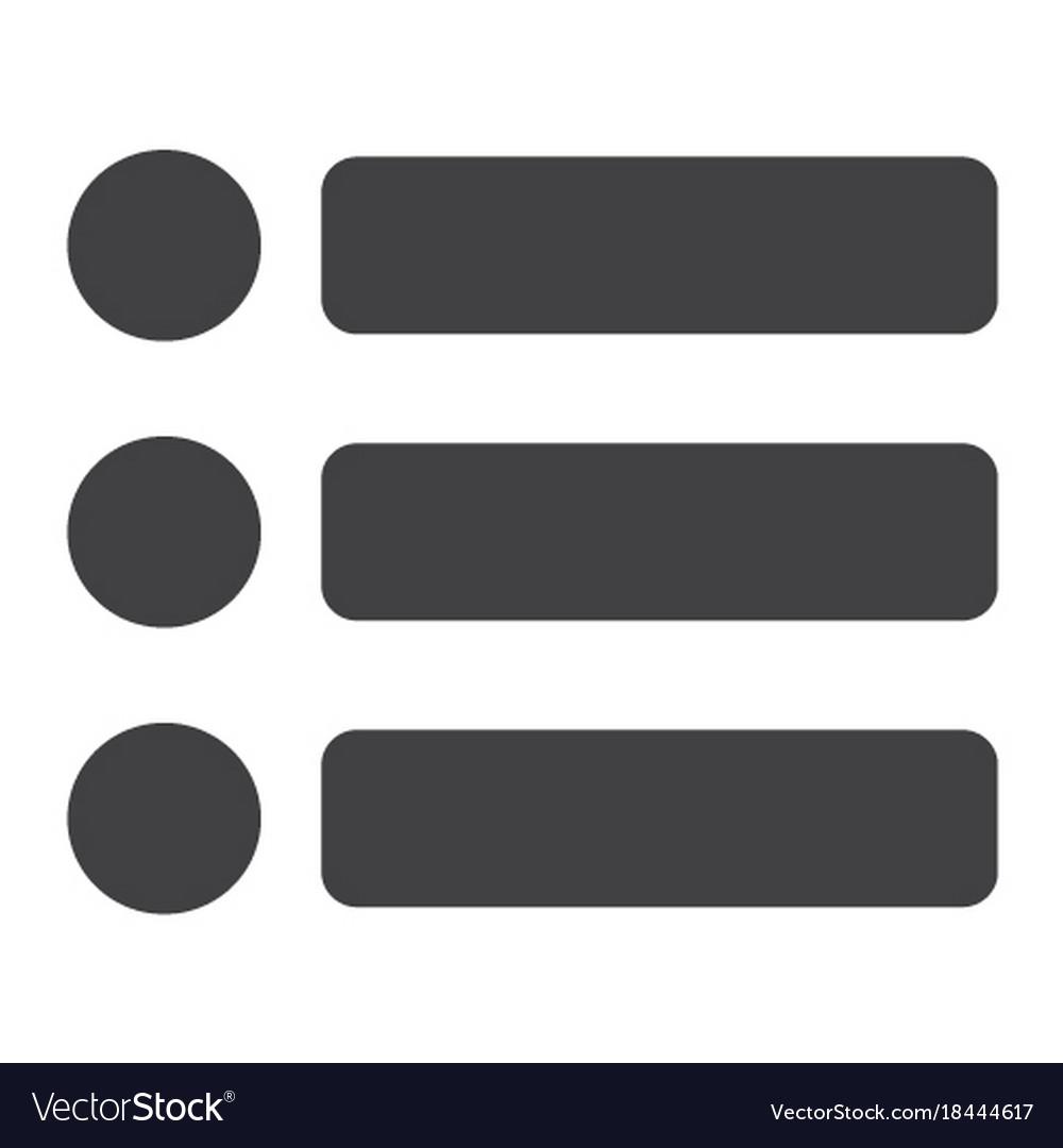 Menu glyph icon web and mobile hamburger sign