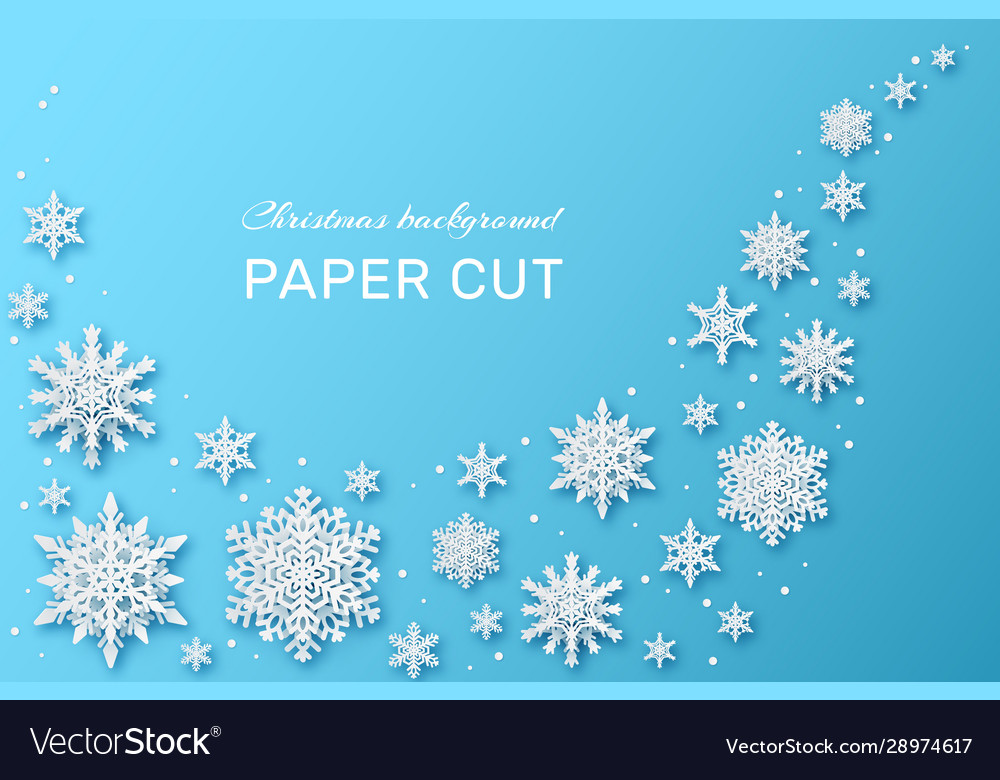 Snowflakes design christmas and happy new year