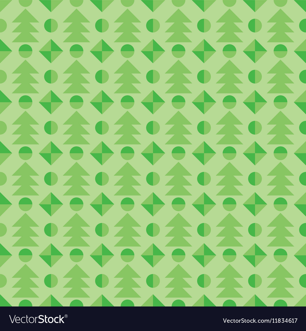 The Seamless pattern with Christmas tree winter