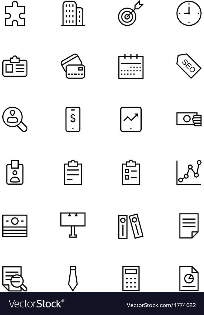 Business and Finance Line Icons 2