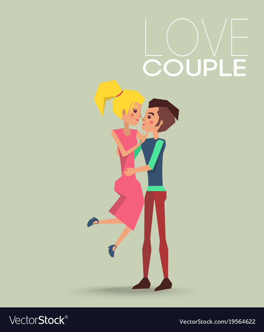 Couple love dating boyfriend and girlfriend vector image