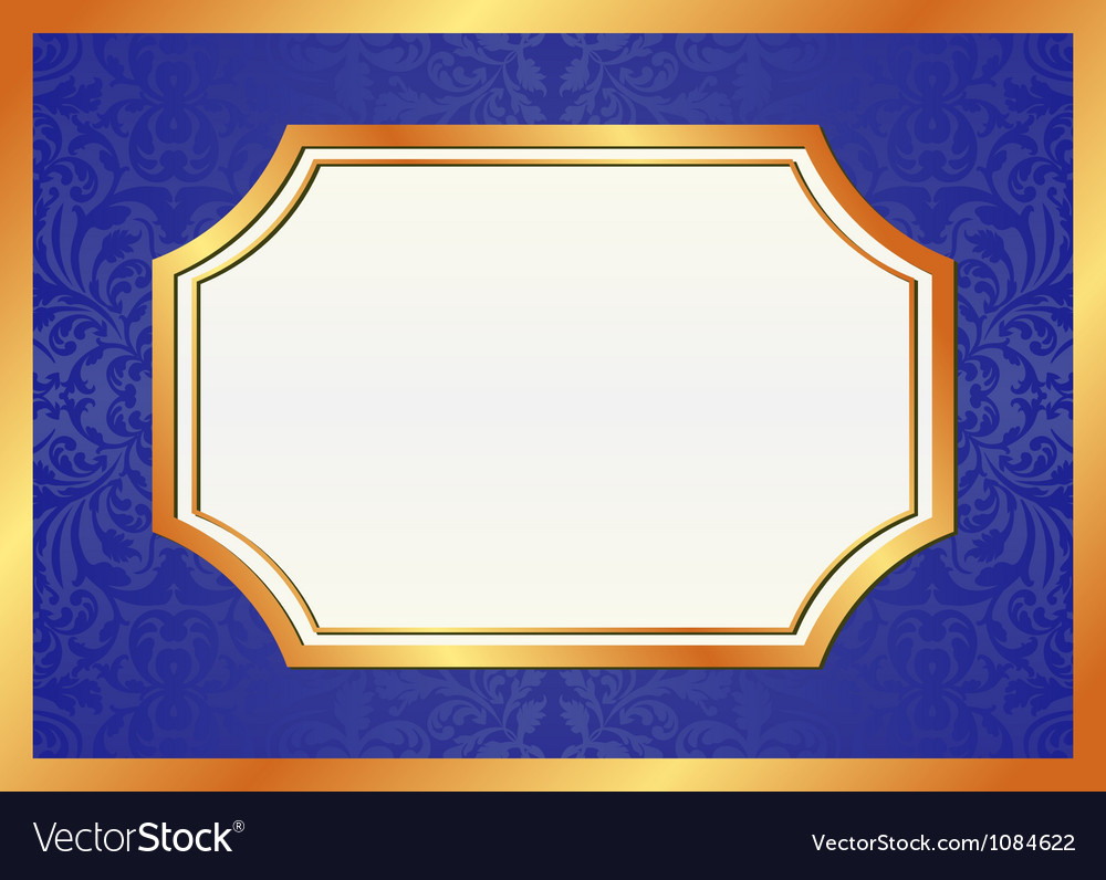 Golden and blue background vector image
