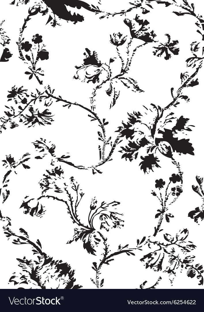 Hand drawn poppies floral seamless background