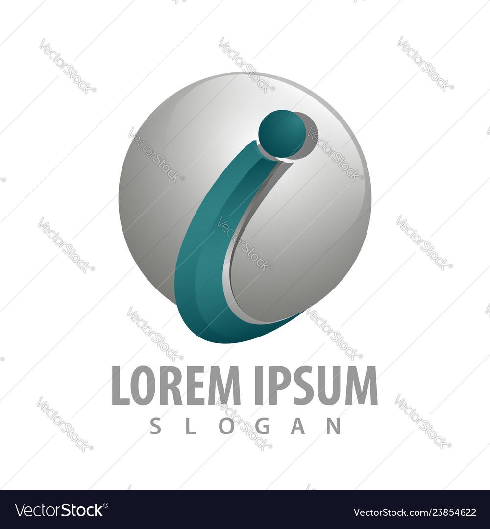 Initial letter i sphere logo concept design