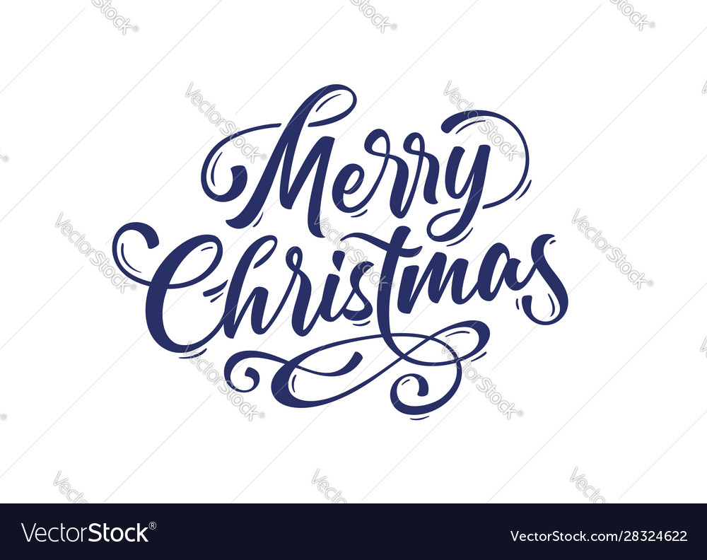 Merry christmas lettering text for merry