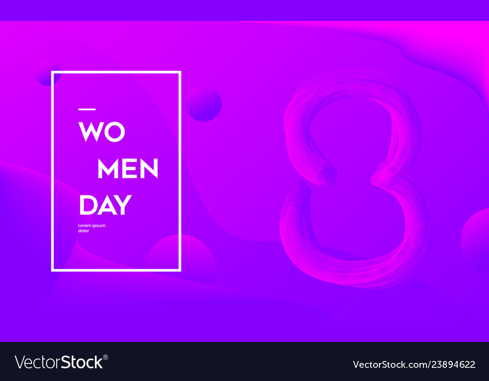 Modern woman day abstract background