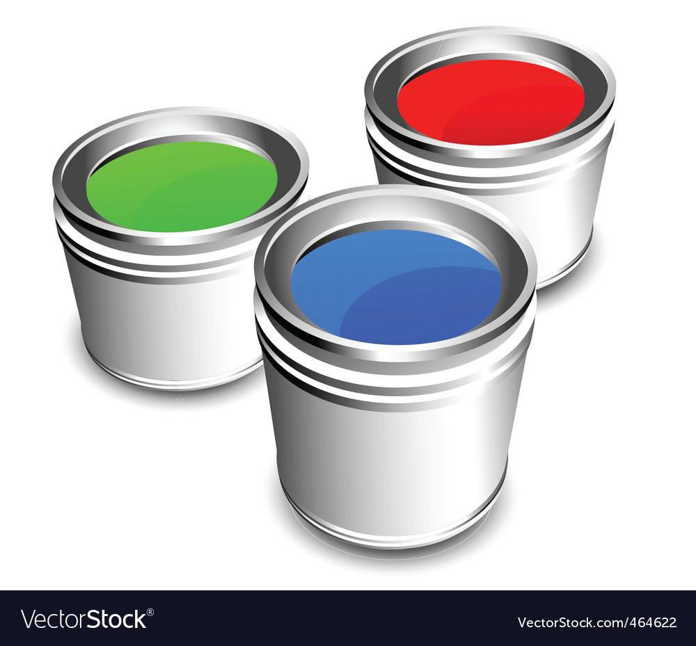 Paint buckets vector image
