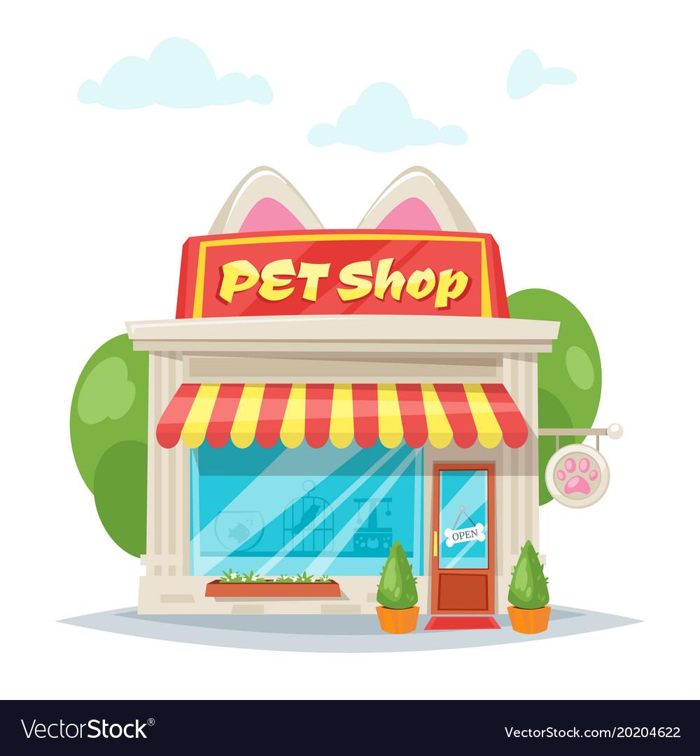 Pet shop facade