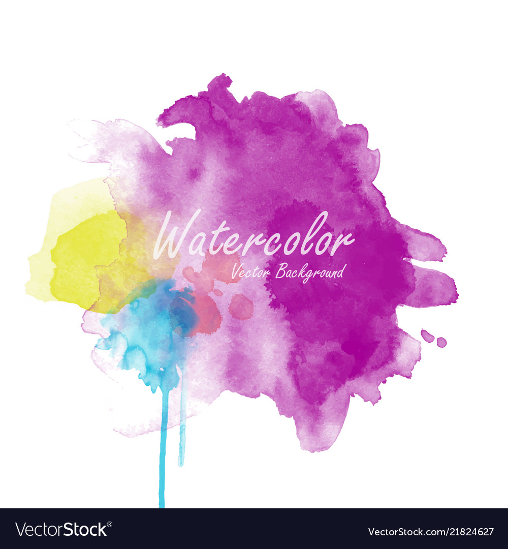 abstract watercolor background template royalty free vector