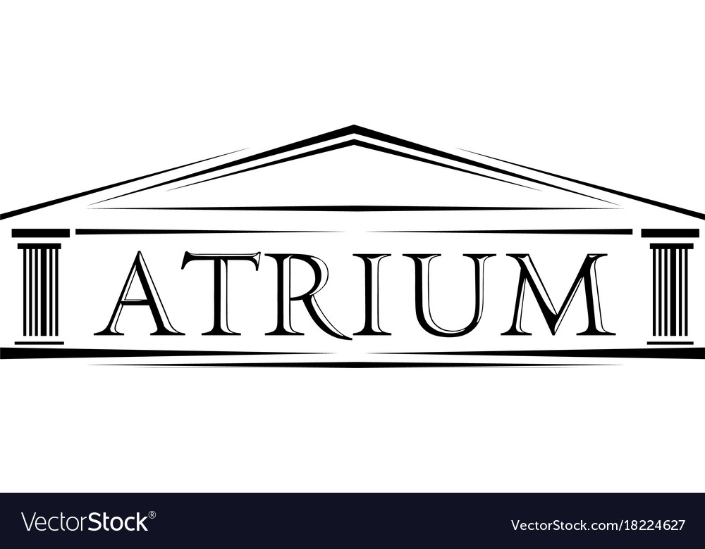 Atrium covered portico classical arch logo