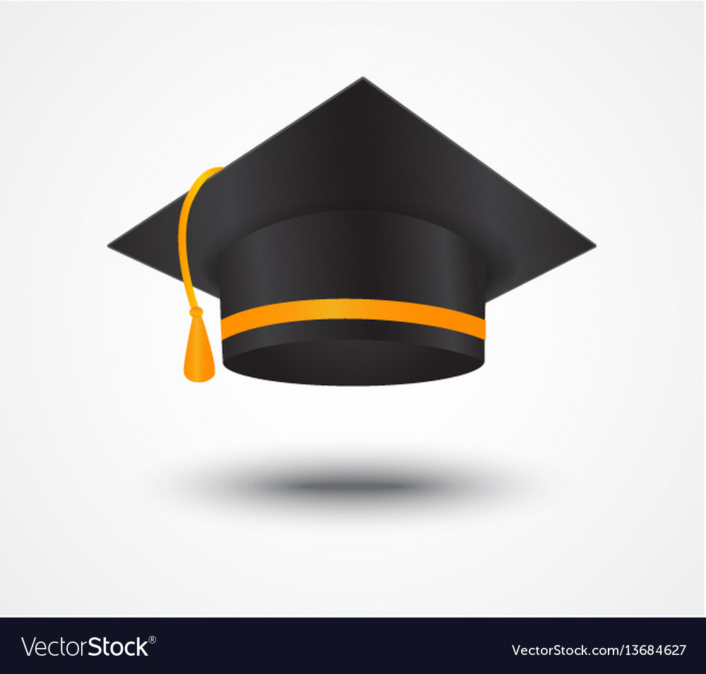 Graduate cap isolated on white
