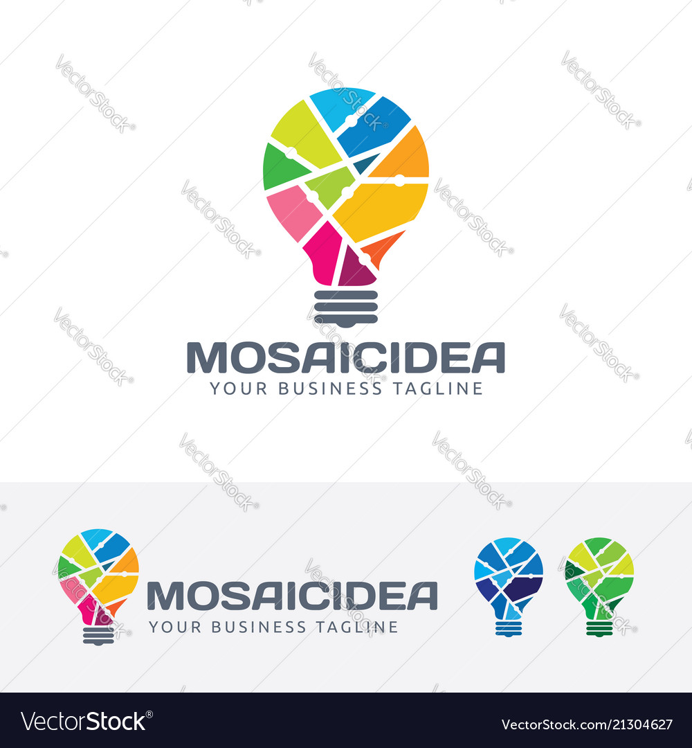 Mosaic idea logo design vector