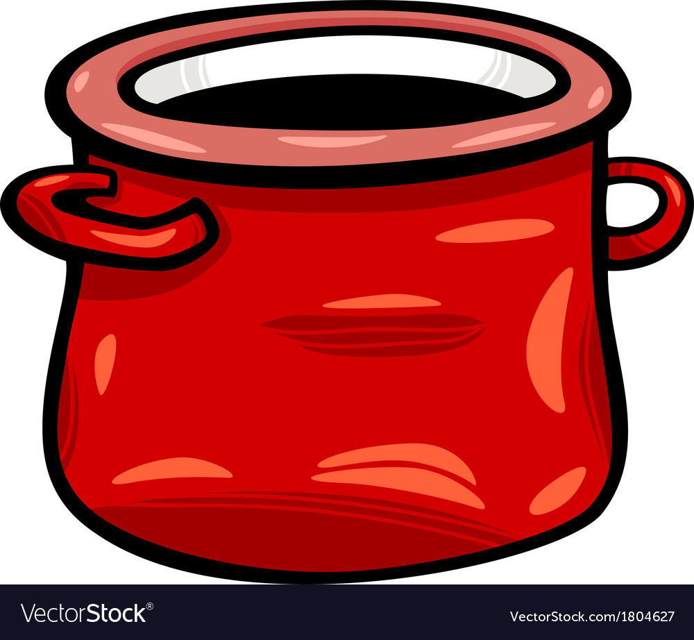 Pot or jar cartoon clip art vector image