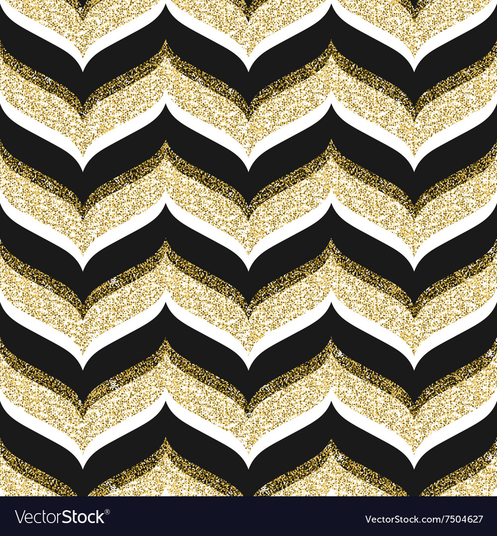 Seamless background with glitter gold vector image