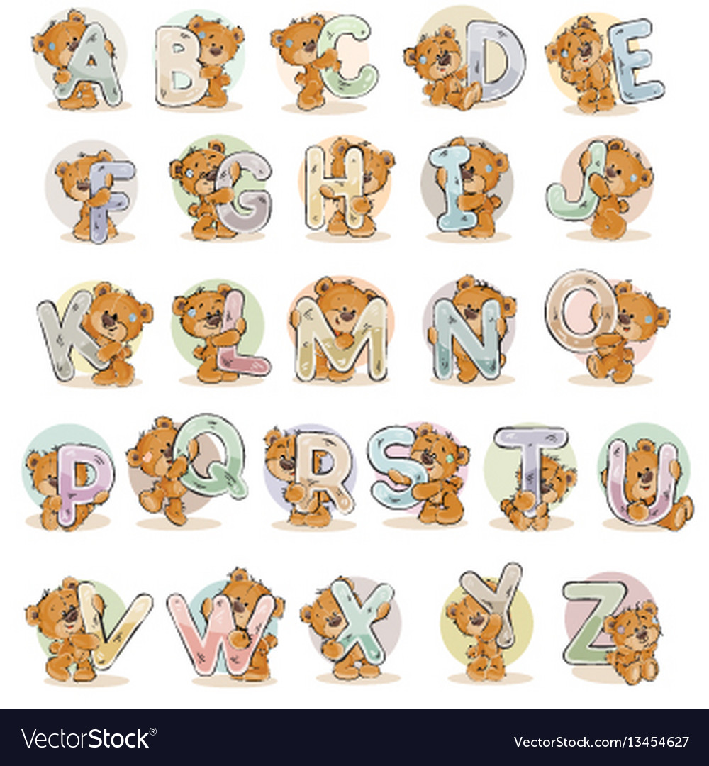 Set letters of the english alphabet with