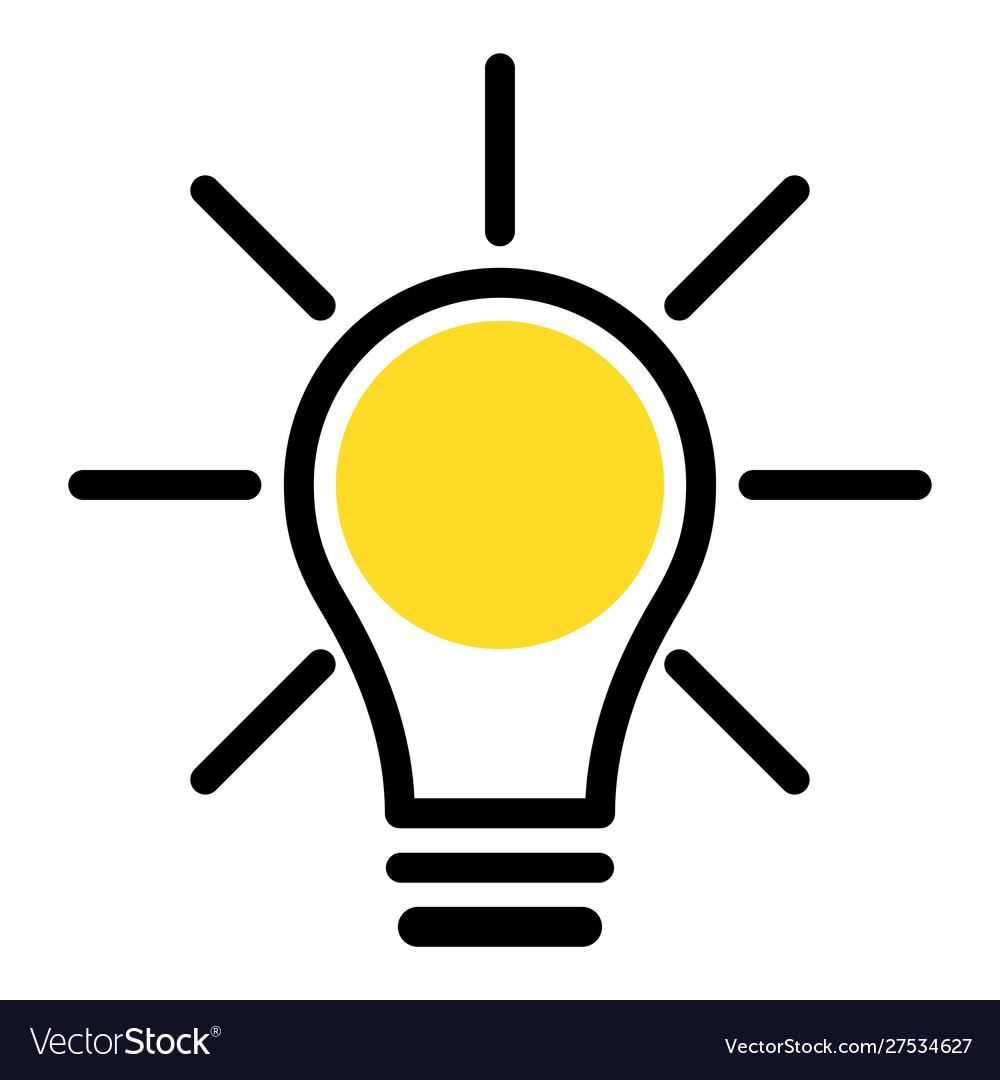 Simple icon light bulb