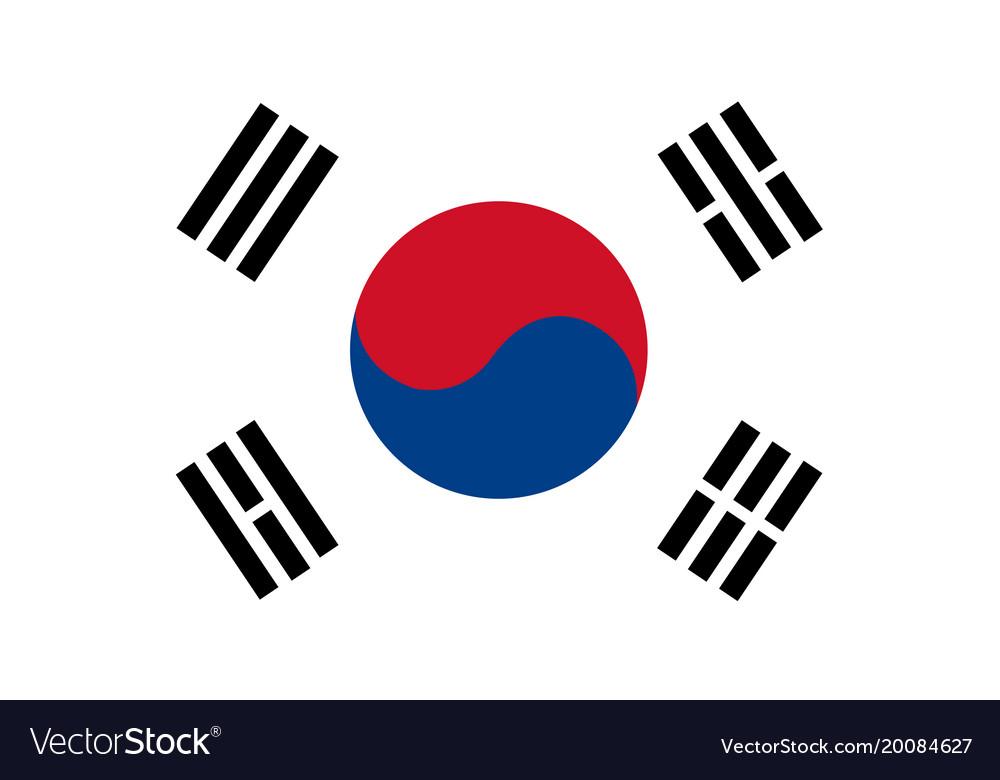 south korea flag royalty free vector image vectorstock