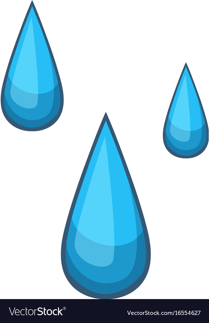 water drops icon cartoon style royalty free vector image