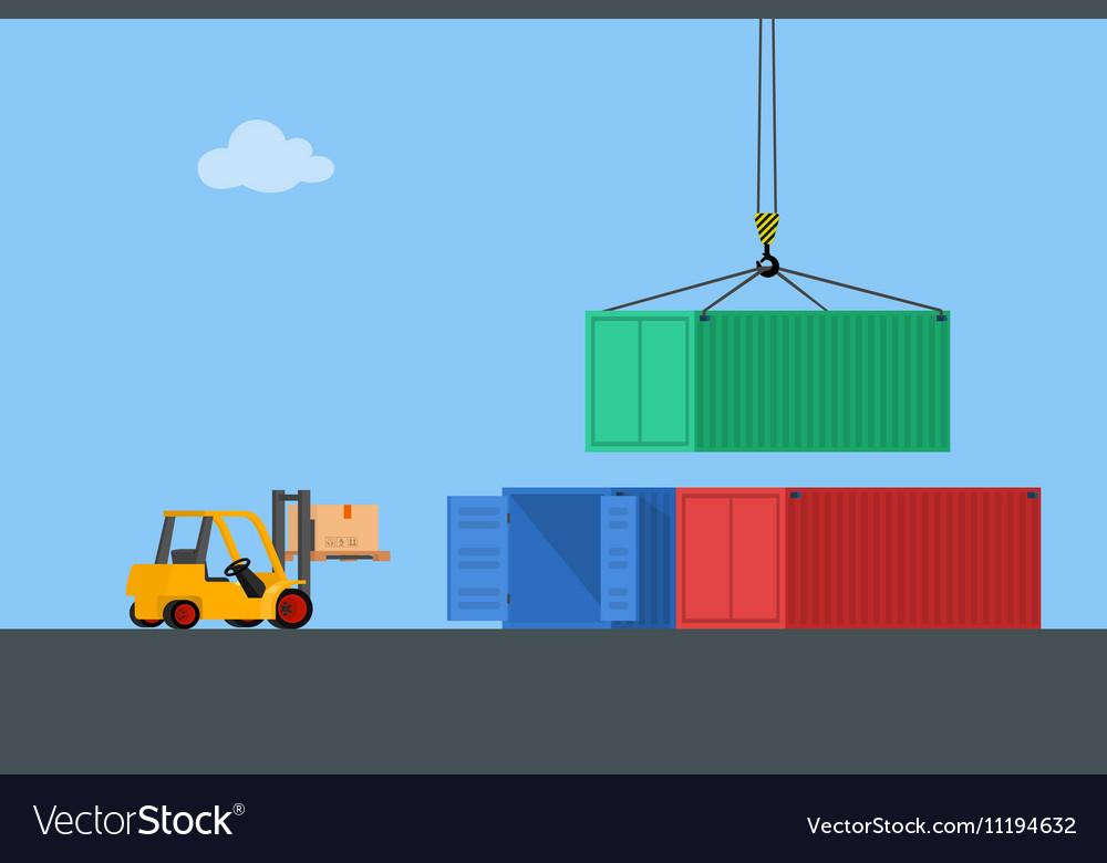 Concept marine cargo port