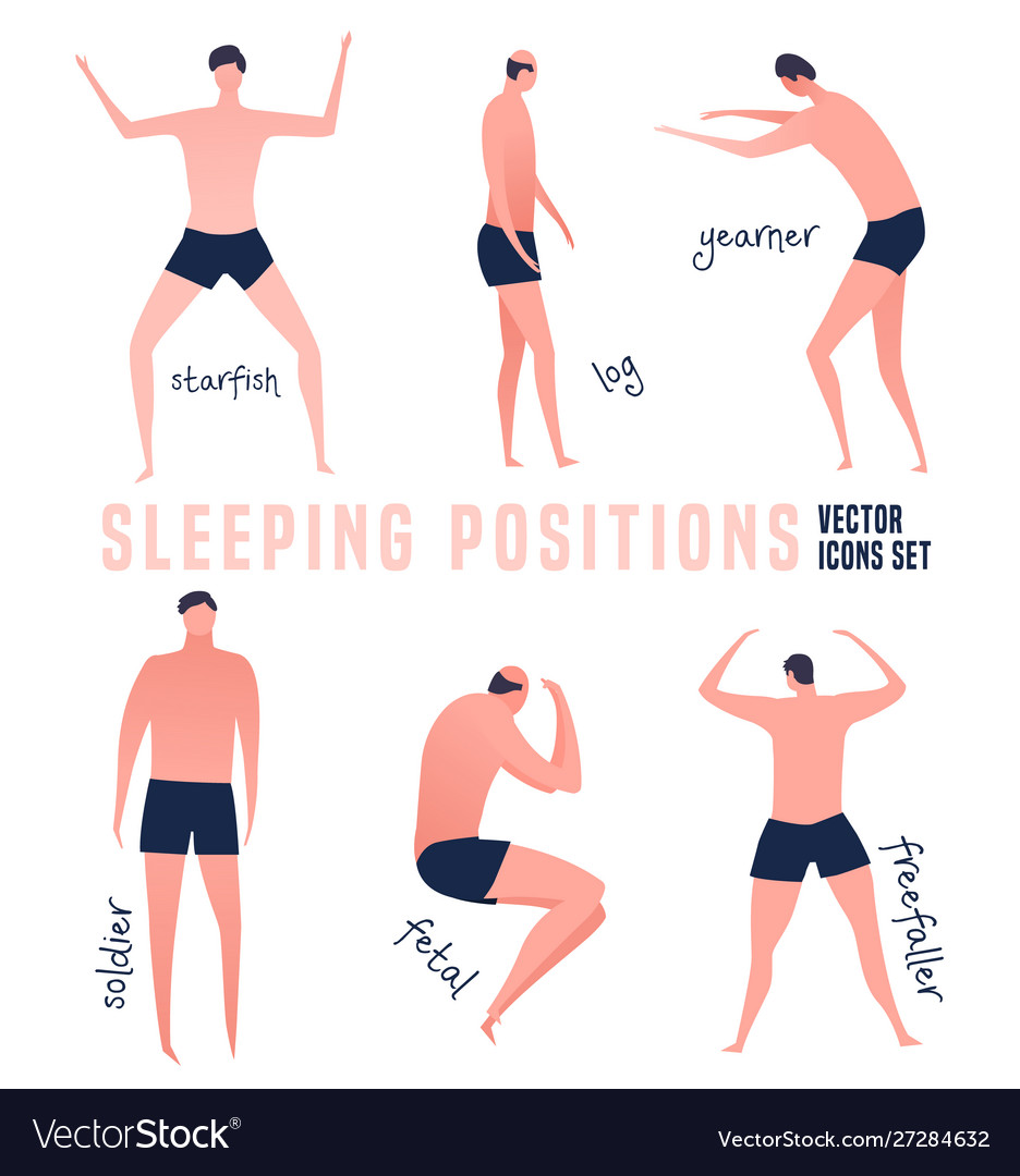 Different Sleeping Positions Royalty Free Vector Image