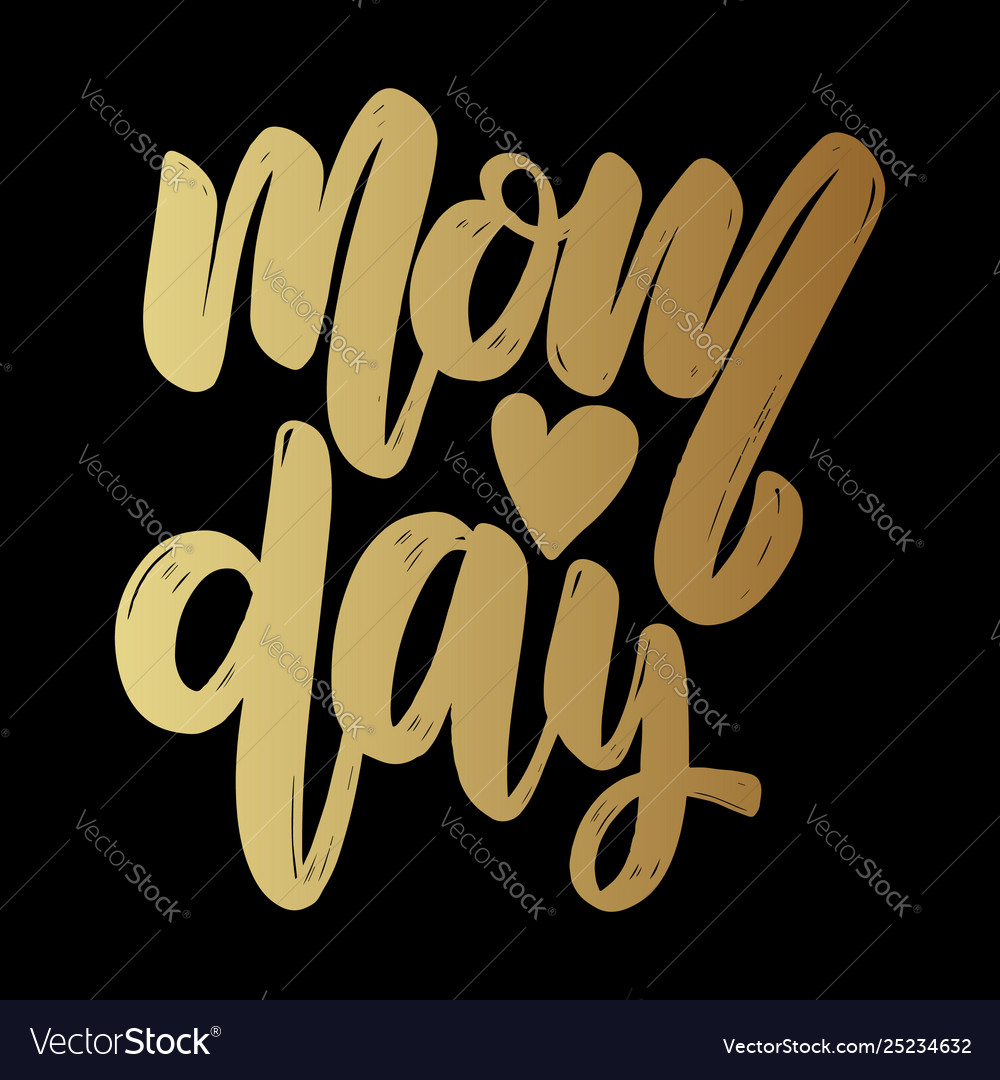 Mom day text lettering phrase for poster greeting