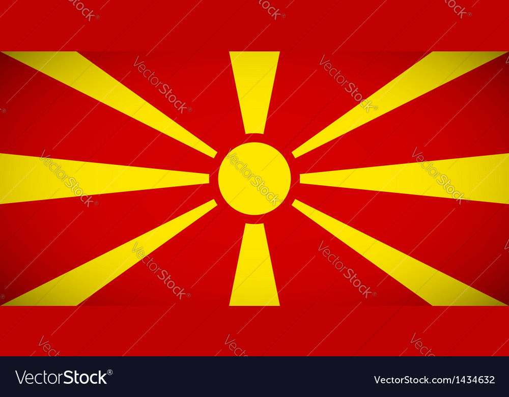 National flag of Macedonia