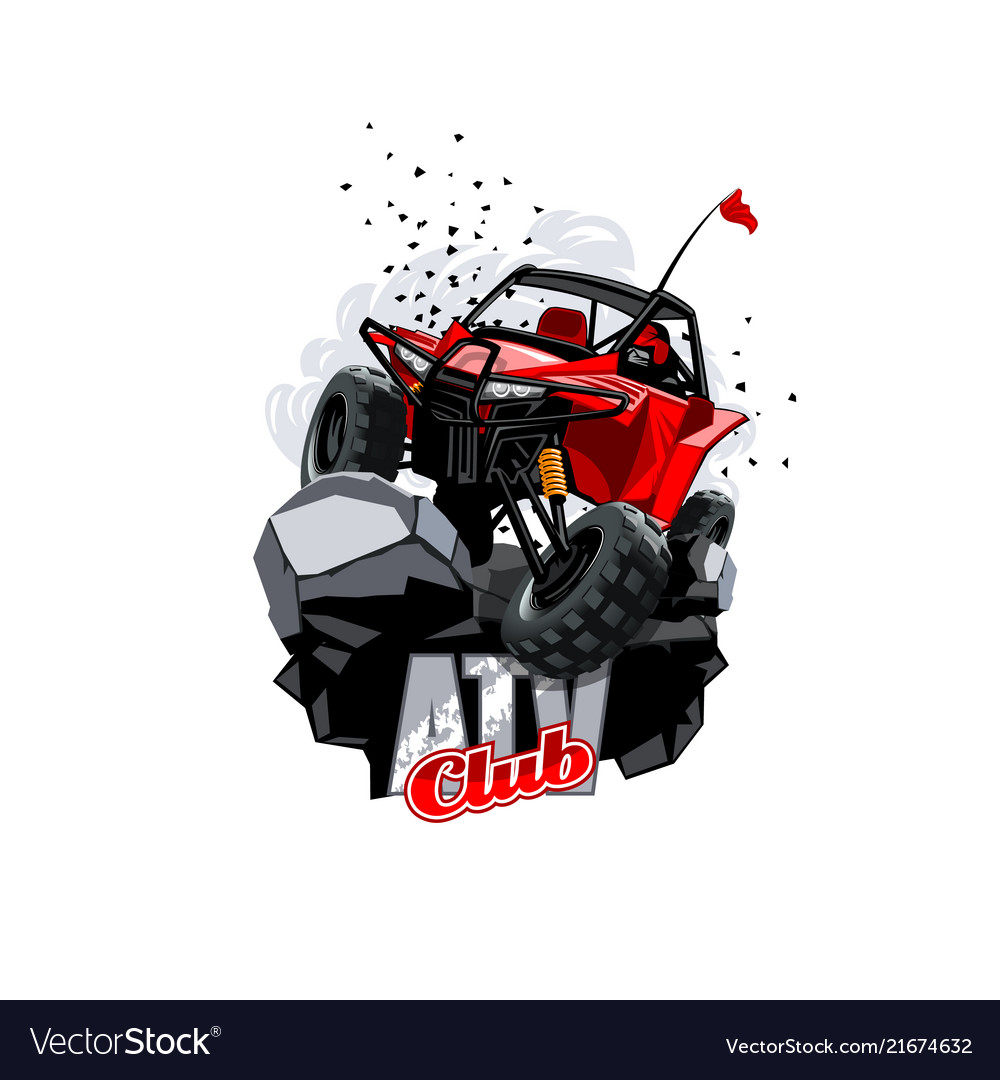 Off-road atv buggy logo club