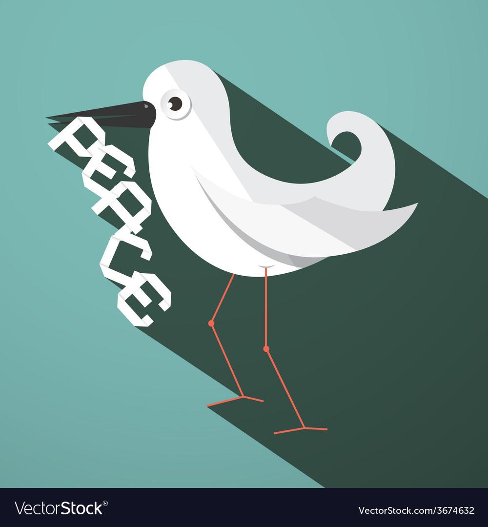 Peace Dove Retro Flat Design
