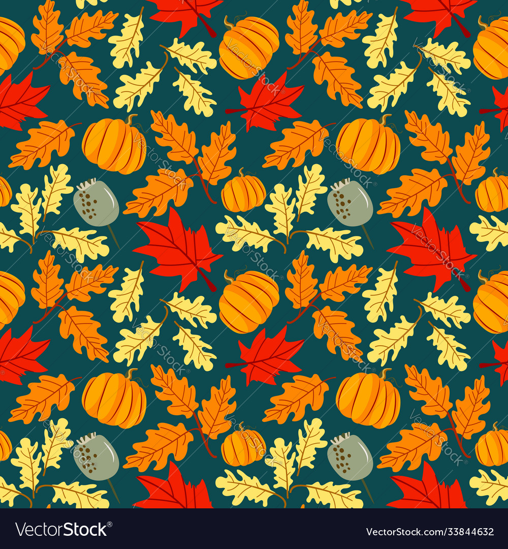 Seamless pattern hand drawn floral background