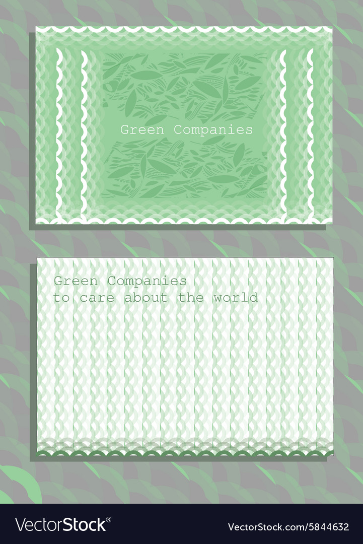 Set of horizontal ecology abstract business cards