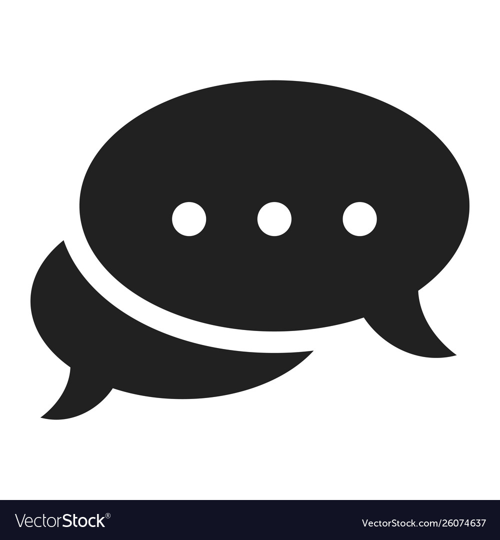 Chat icon black communication and outline contact