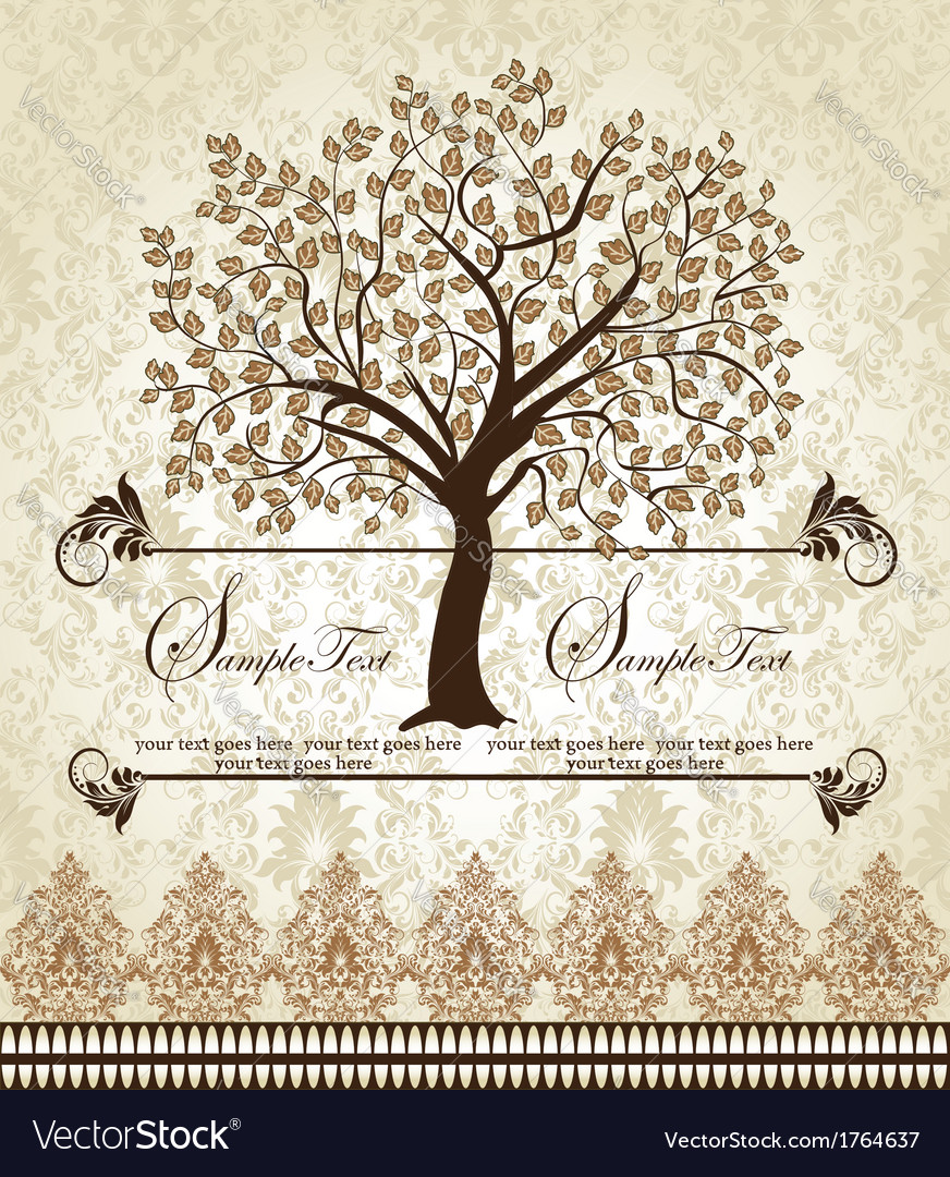 Family Reunion Invitation Card Royalty Free Vector Image