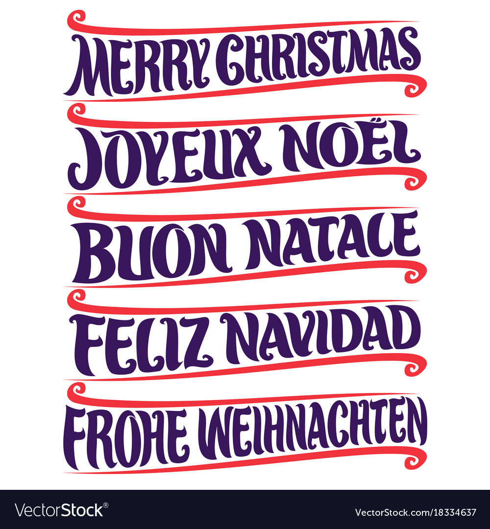 Merry Christmas In Different Languages.Merry Christmas In Different Languages