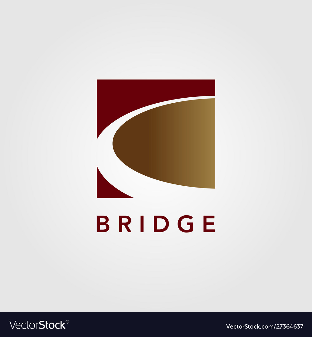 Modern bridge logo icon design