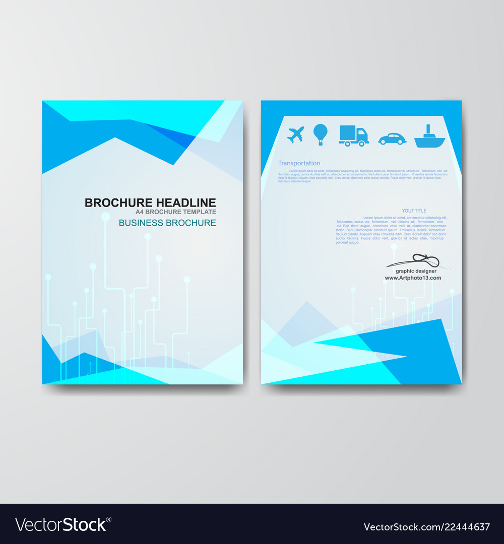 Paper Art Of Business Brochure Template Royalty Free Vector