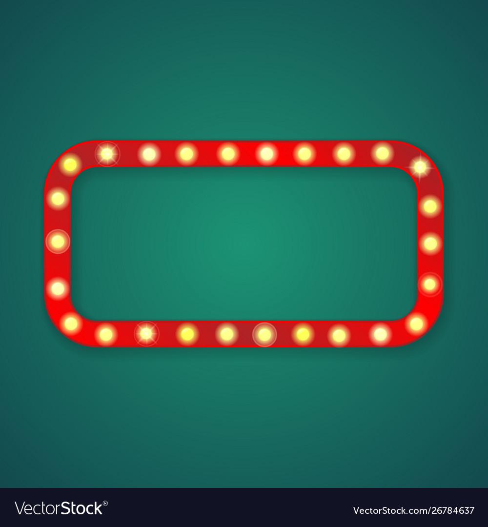 Red light rectangle corners frame