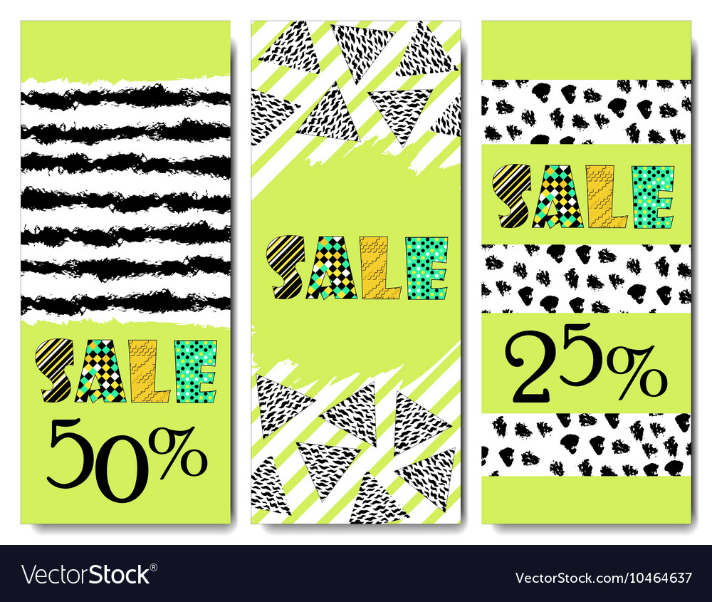 Sale design Collection of three hand drawn