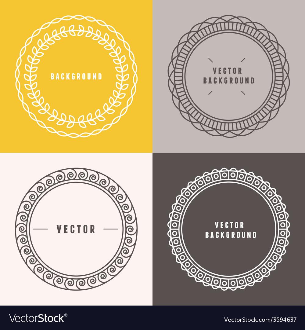 Set outline design elements