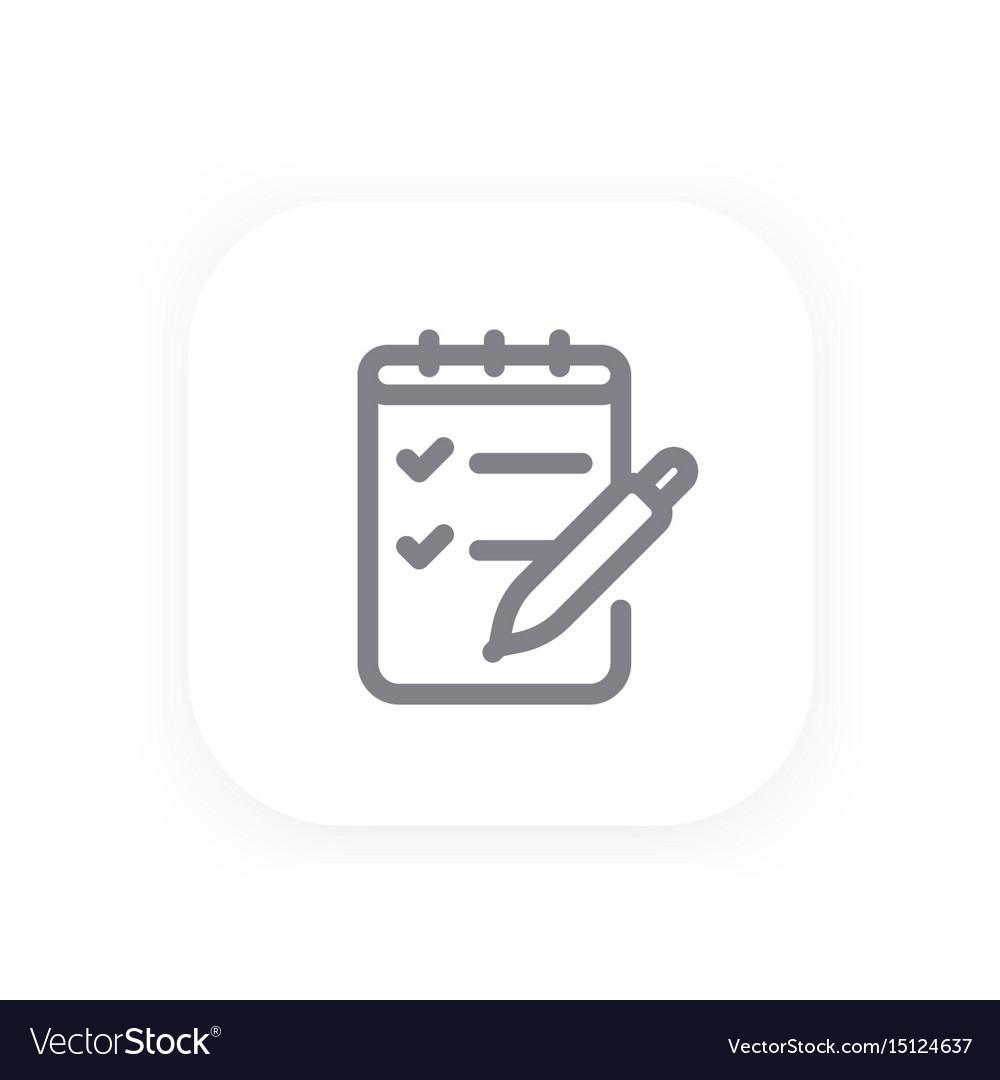 Survey quiz line icon vector image