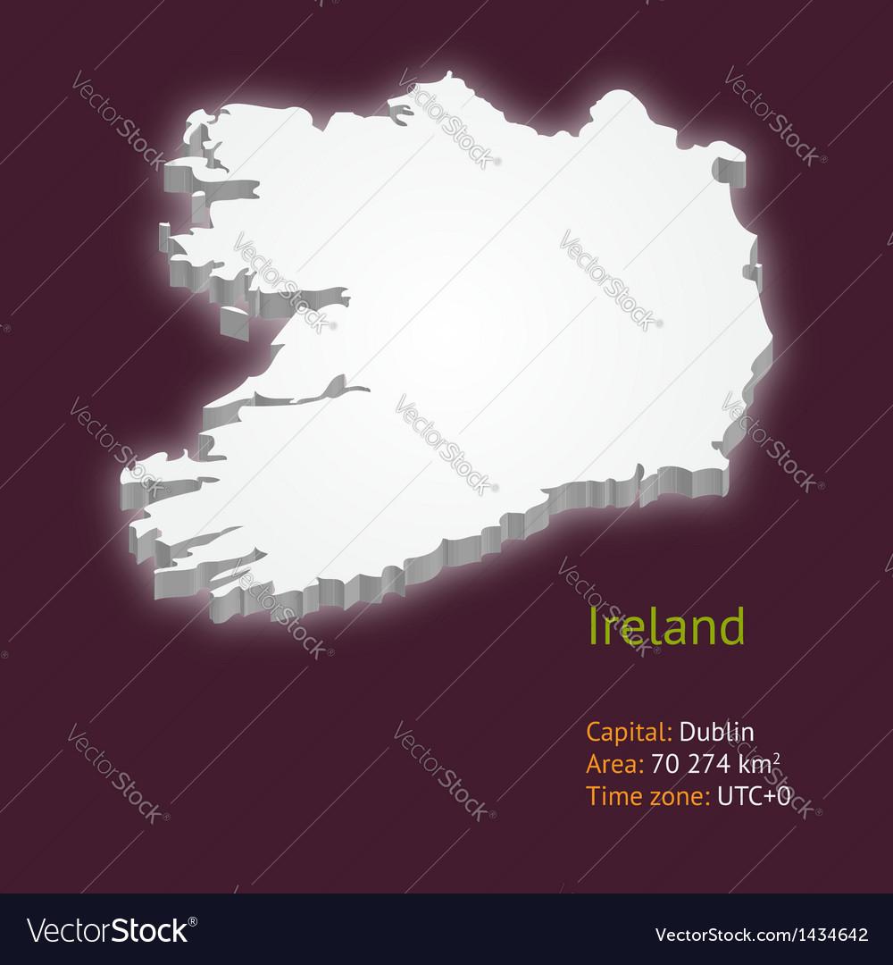 Map Of Ireland 3d.3d Map Of Ireland Royalty Free Vector Image Vectorstock