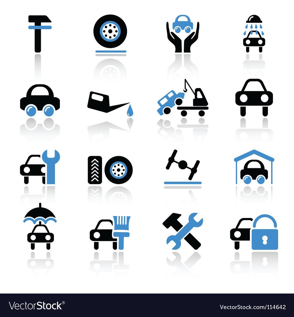 car service icons royalty free vector image vectorstock rh vectorstock com car icon vector image car icon vector top view