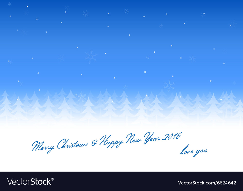 Christmas card love you vector image