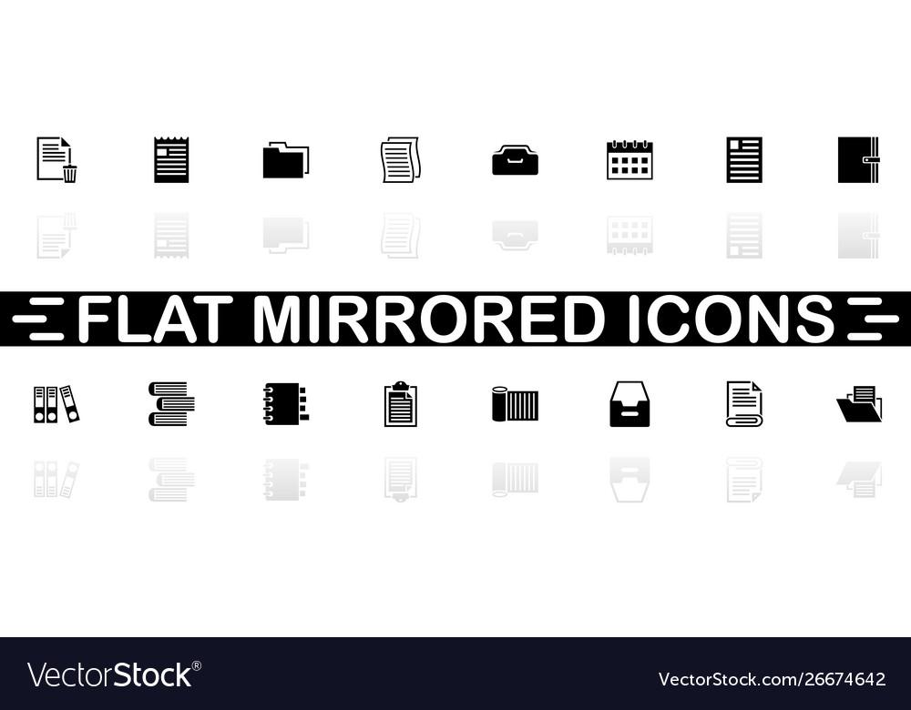 Documents - flat icons