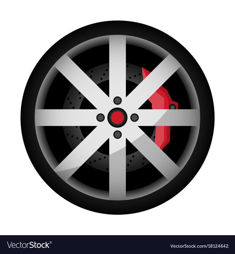 b68a6f912712c1 Side view sports car wheel icon Royalty Free Vector Image