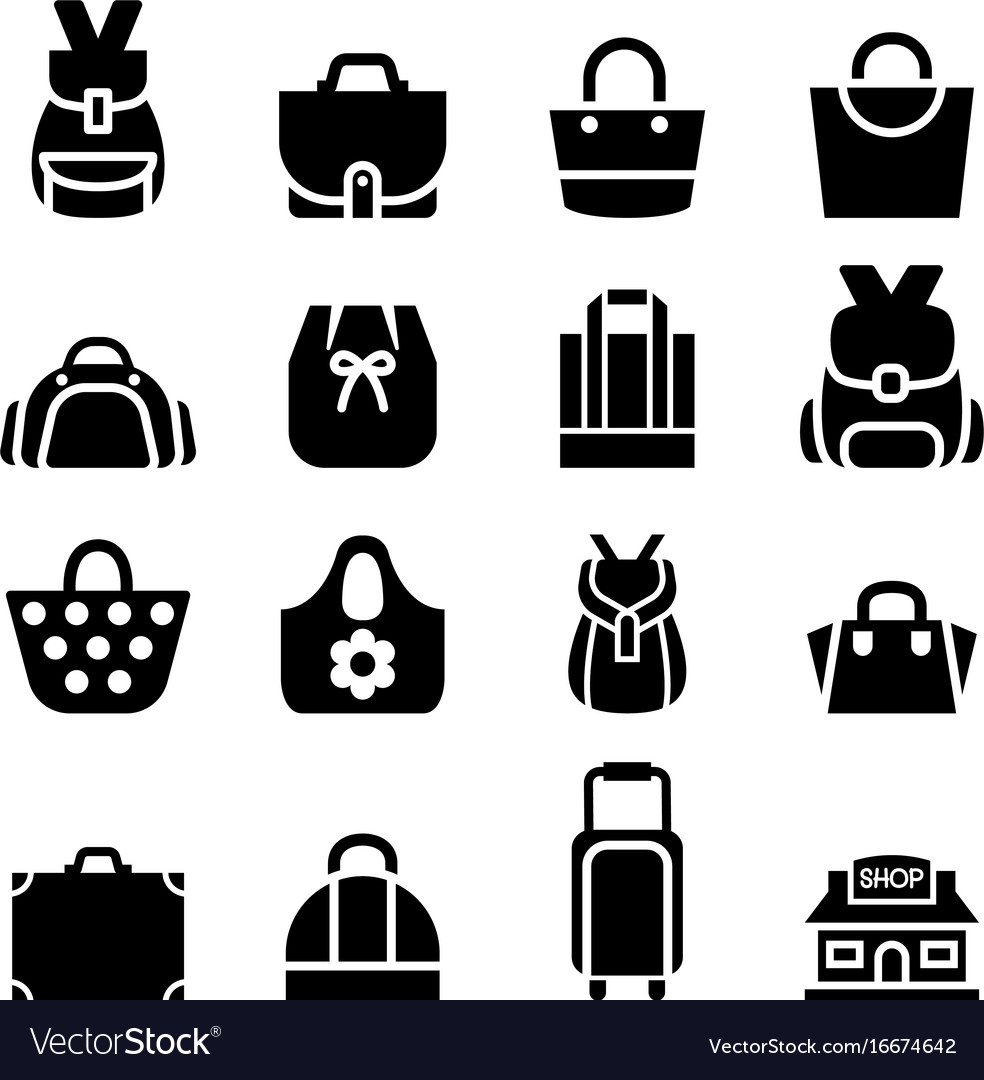 Silhouette Ping Bag Icon Vector Image