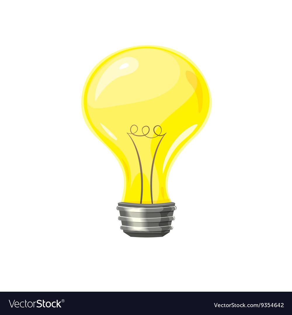 Yellow light bulb vector image