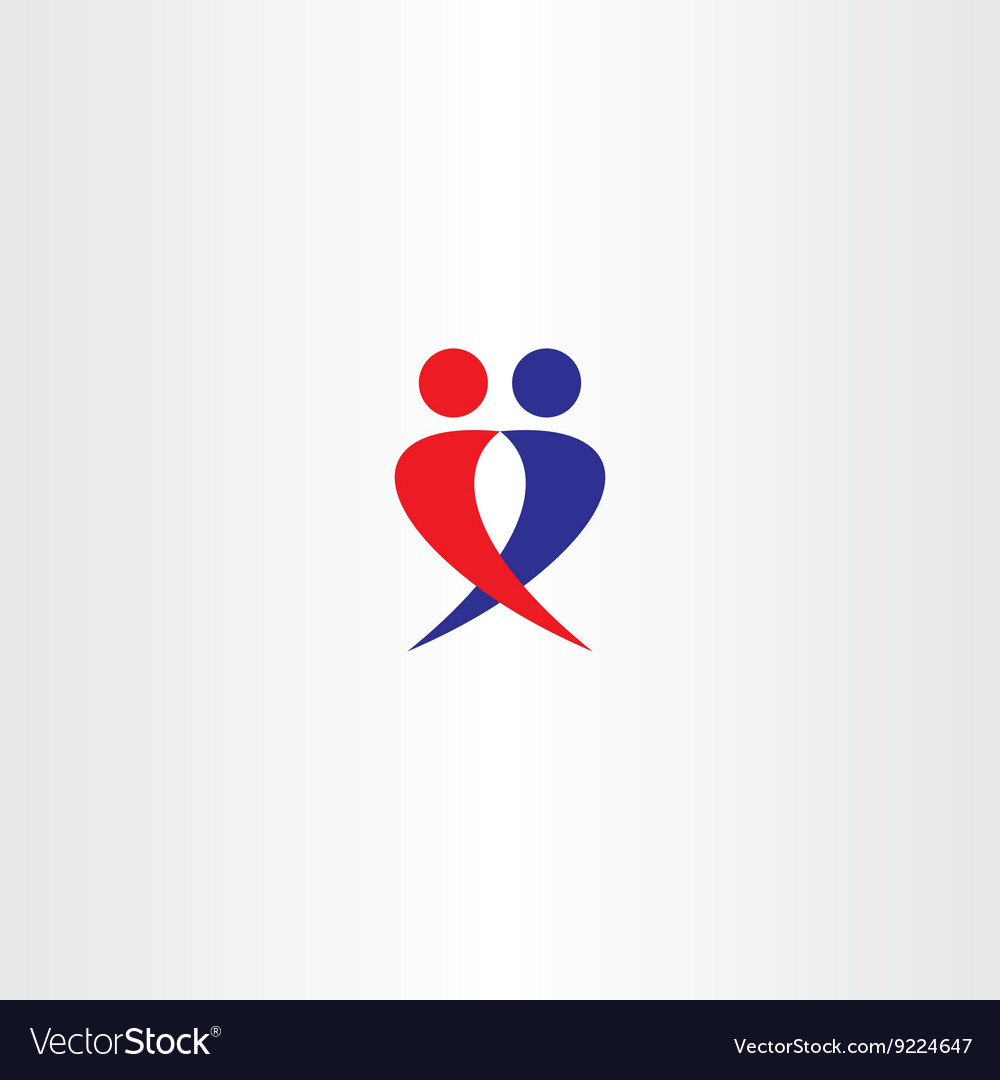 Boy and girl in love symbol vector image