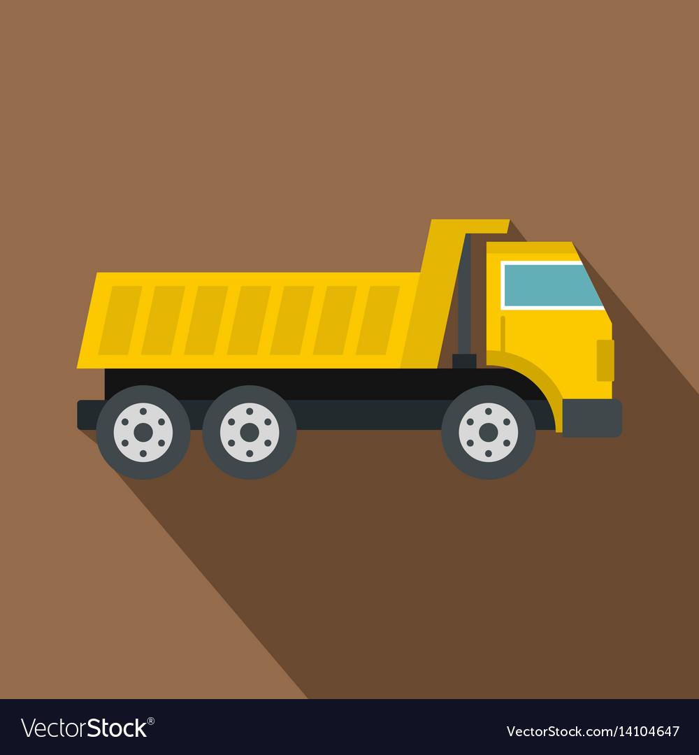 Dumper truck icon flat style
