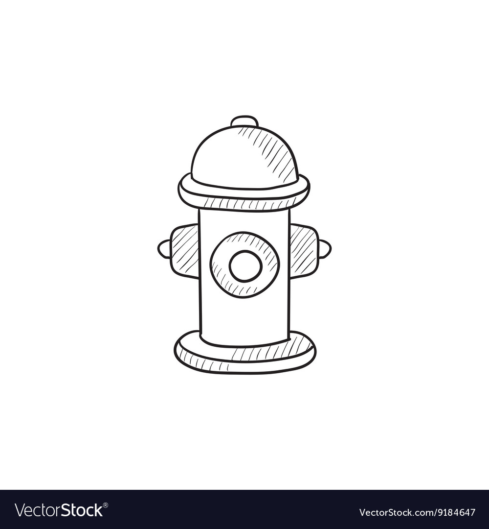 Fire hydrant sketch icon